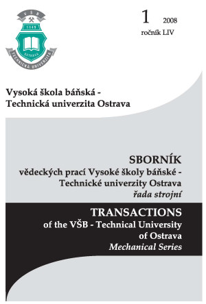 TRANSACTIONS of the VŠB - Technical University of Ostrava, Mechanical Series